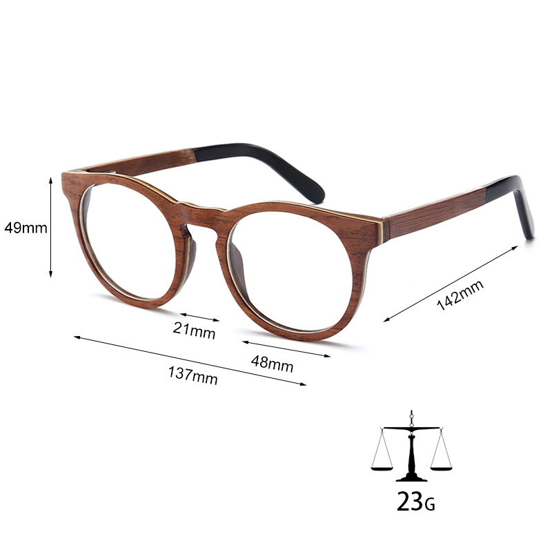 Modern style spring hinge the dark mahogany board optical frames eyeglasses