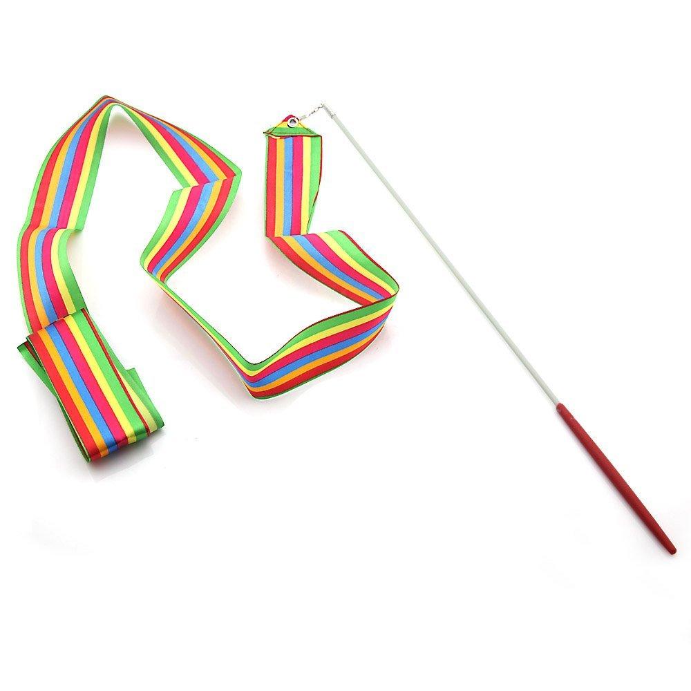Dancing Ribbon Streamer Gym Rhythmic Rod Art Gymnastic Ballet Twirling   A US!