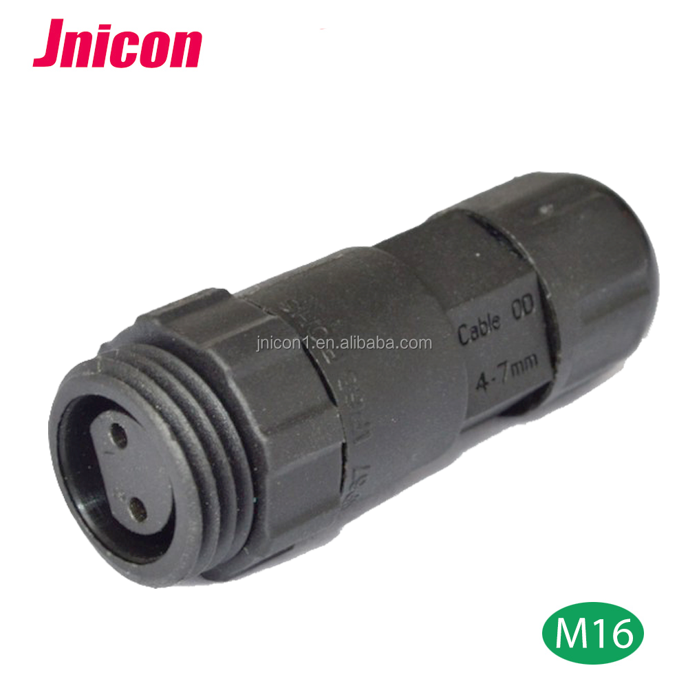 3 pin 10 A panel mount waterproof connector plastic 2 pin male female power connector for led