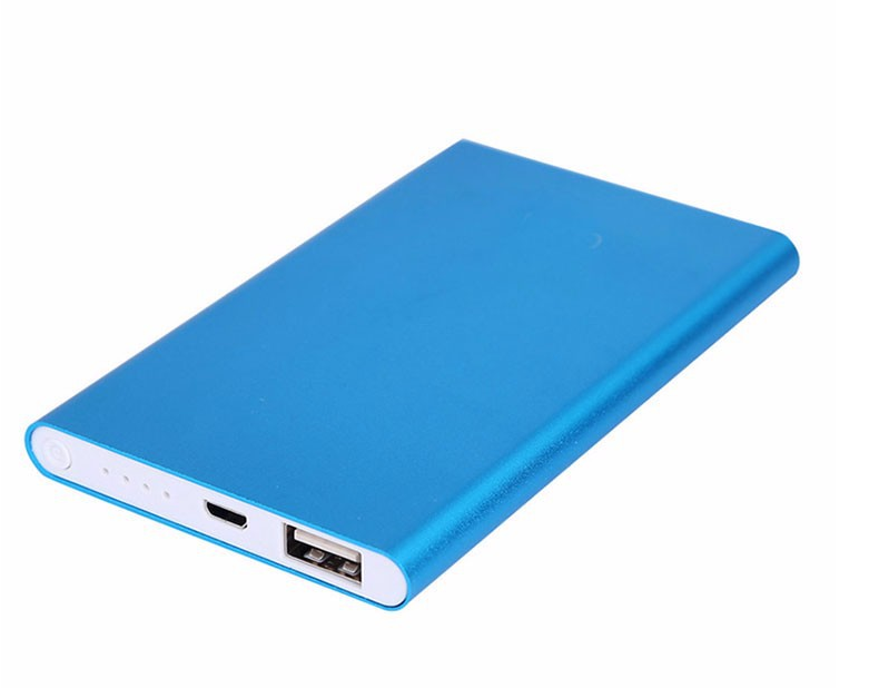 Ultra-thin metal 4000mAh portable durable power bank extra battery in promotion