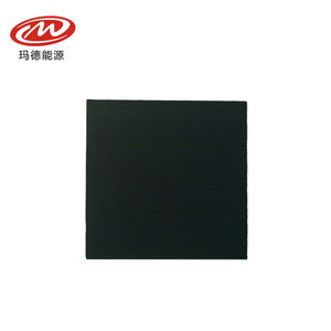New design SMT small sunpower PV panel 60mm*60mm*2.0mm 0.39W/4V customized small solar panel