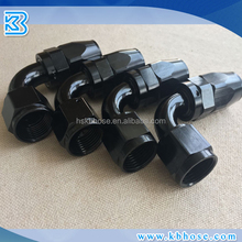An4 An6 An8 An10 An12 Universal 90 Degree 90deg Black Color Swivel Aluminum An Fittings for Oil Cooler Fuel Hose Line
