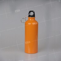 aluminum water bottle with holder carabiner