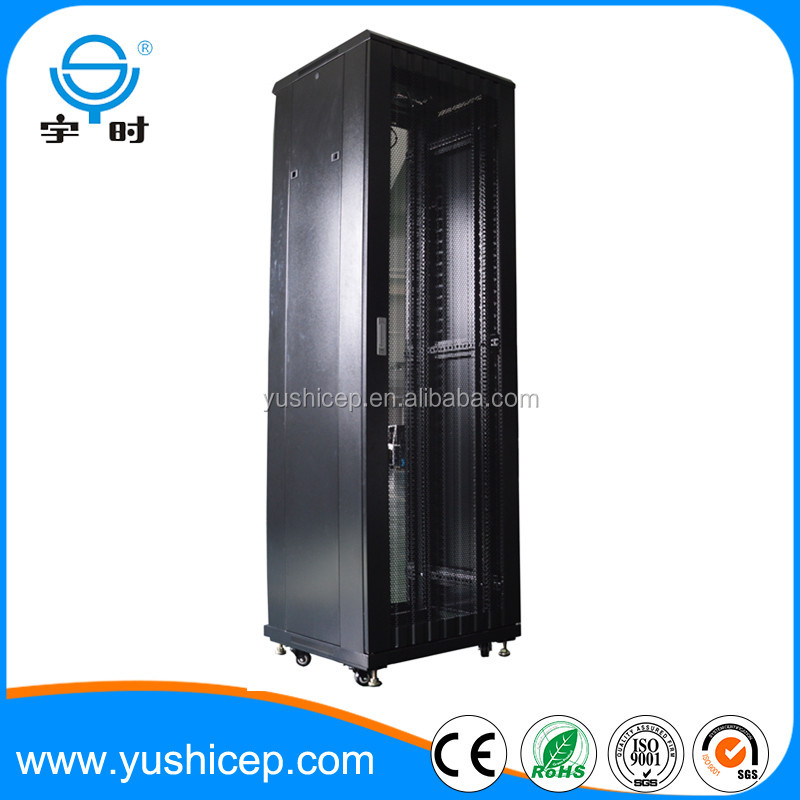 2016 new design glass front and meshed rear door 19 inch network server rack