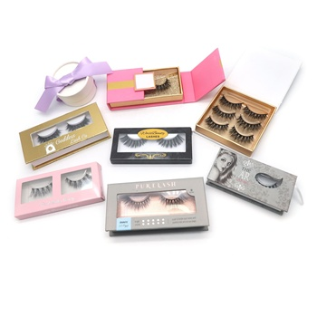 Luxury real 3d mink effect lahes and eyelashes storage packaging box