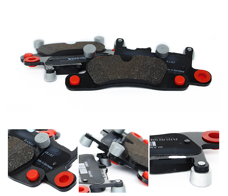 7P0698451 Red Rear Brake Pad Wholesale Top Quality Full Sets 4 PCS Brake Pads For VW Touareg 2011-2016