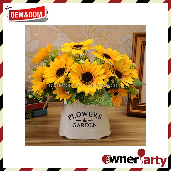Hot Sale Silk Sunflowers Home/Party Decoration Silk Floral Centerpieces