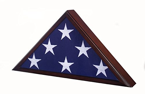 SpartaCraft Cherry Veteran Memorial American Flag Case For Military Retirement Made In America.