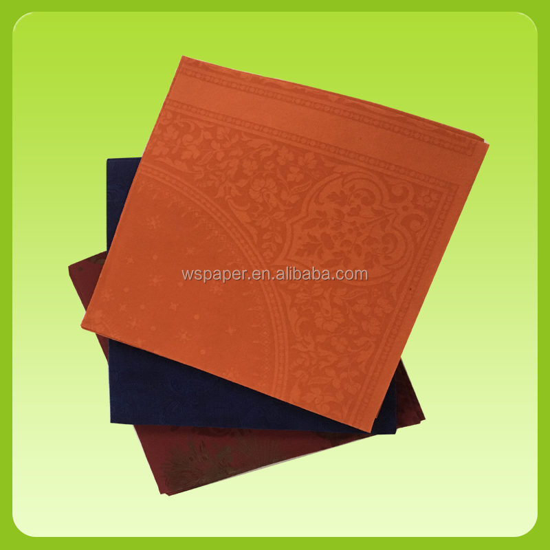 Disposable custom printed airlaid paper dinner napkin with logo