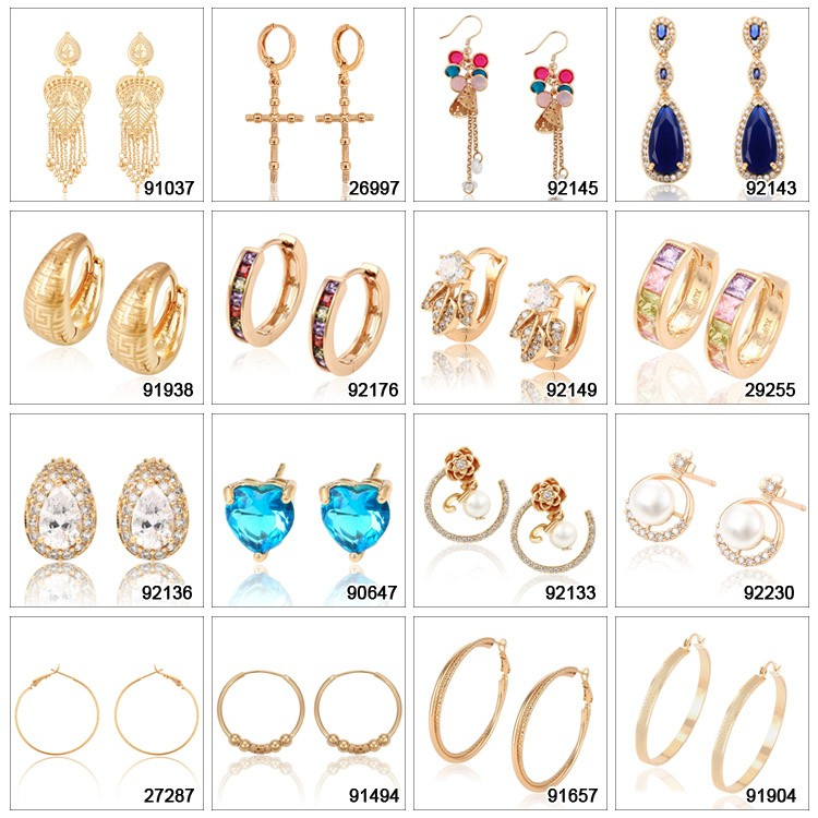 yiwu Xuping Jewelry 18K Gold Plated Fashion Huggies Earring jewelry For ladies