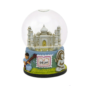 Delhi India snow globes for tourists and home decor