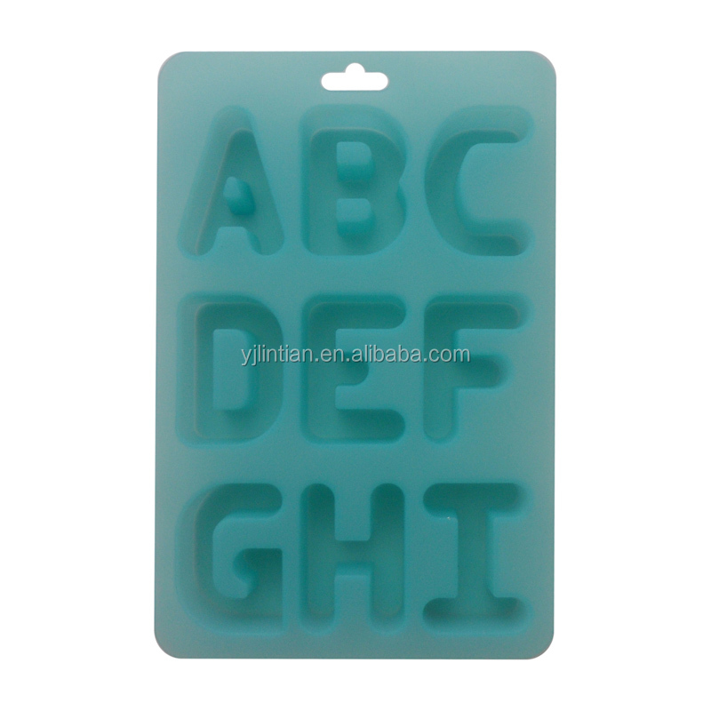 hot sale good quality factory price custom-made different letters silicone cake molds