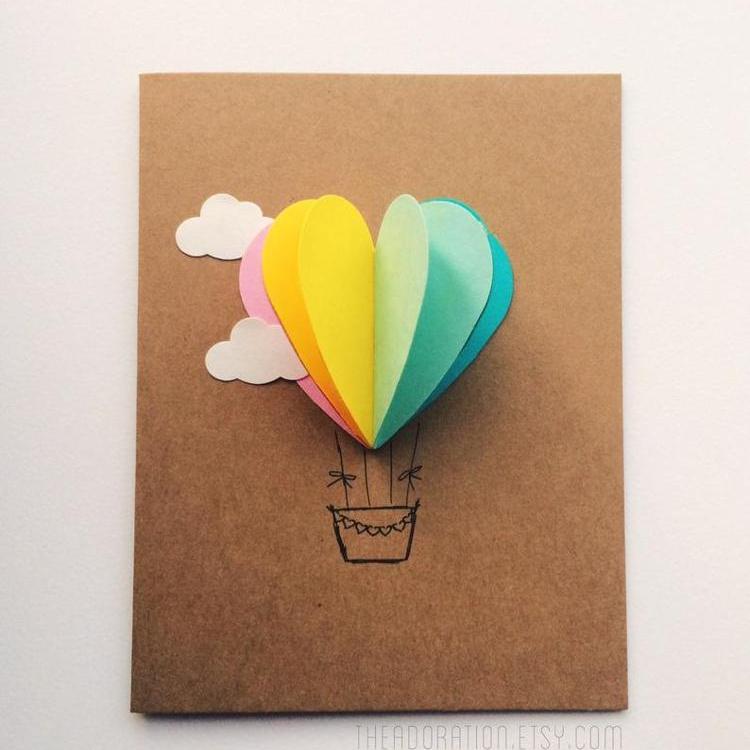 Открытки сделанные, как сделать открытки шарики