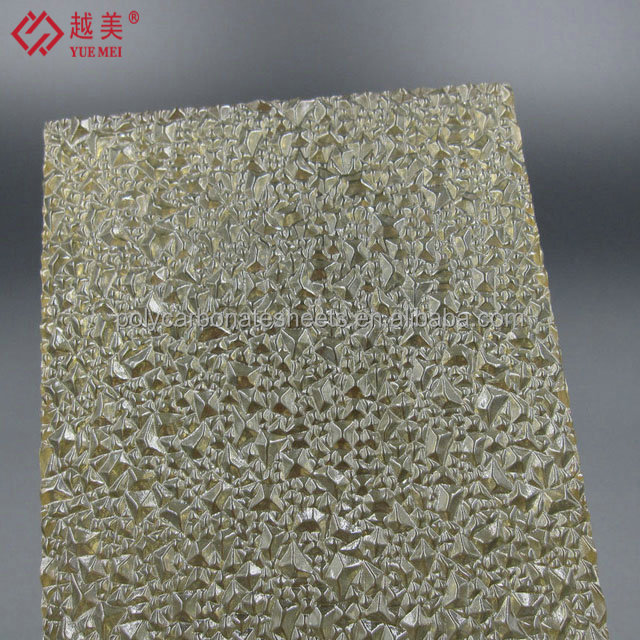 Grade A Yuemei Polycarbonate Embossed Solid Sheet PC Diamond Embossed Panels