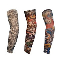 Fashion Custom Cycling Wear Warmer Compression Tattoo Arm Sleeve