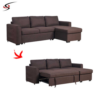Hoekbank Bed Stof Divan Ontwerp Sectionele Sofa Couch Cover