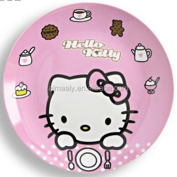 Керамическая забавная мультяшная тарелка для детей hello kitty дизайн