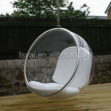 Clear acrylic Outdoor Furniture bubble cheap plastic hanging chairs for sale