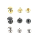 Custom Logo Brass Double Cap Rivet Stud Decorative Button Rivet for Jean Garment Fashion Shoe Handbag Cloth
