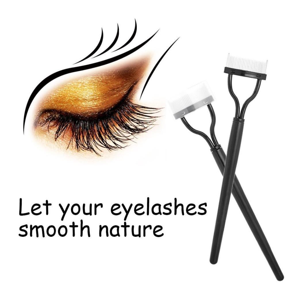 d2f8997aac6 Get Quotations · Celendi Eyebrow Grooming Brush Tool Eyelash Comb Lash  Separator Mascara Lift Curl Metal Brush