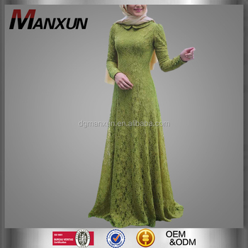 Modest Women Lace Dress Beautiful Muslim Clothing New Style Dubai Abaya