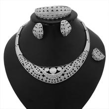Unique Bijoux De Mariée Collier De Diamants Et Bracelet En Or Blanc Collier Et Bracelet Ensemble
