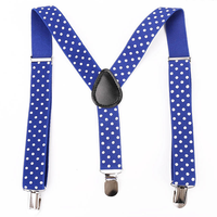 Delicate multicolor multipurpose men and kids polka dots adjustable stripe suspender for suit