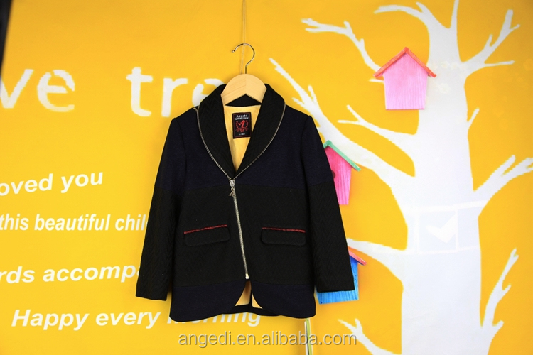 wholesale children's boutique clothing cheap color combination zipper suits