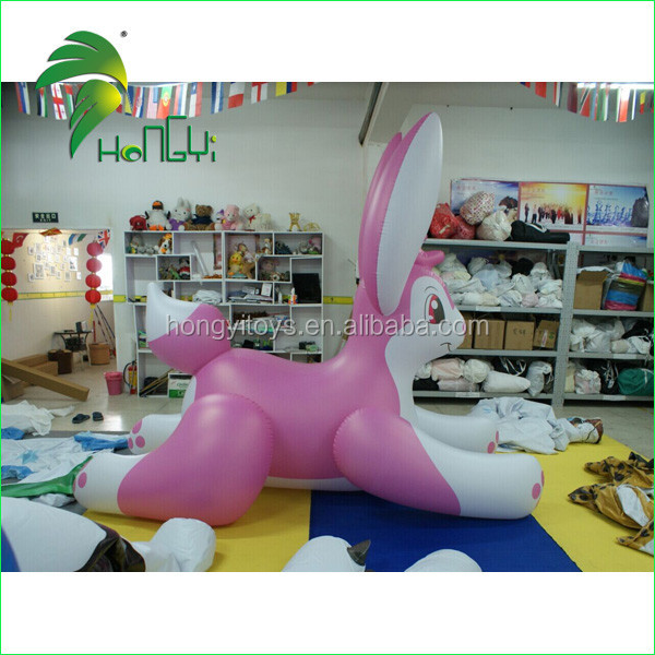 High Quality Giant Inflatable Rabbit Toy / Lovely Inflatable Rabbit For Kids With Lower Price From Hongyi