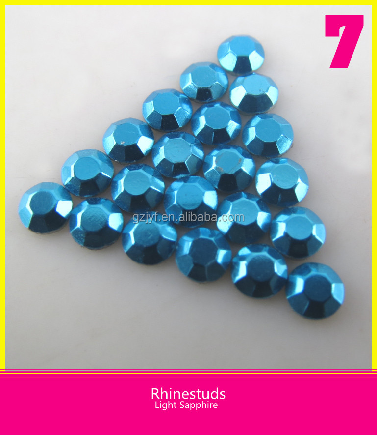 Wholesale Light Sapphire Color Rhinestuds Heat Transfer Octagon 5mm Hot Fix Loose Rhinestone for Garment