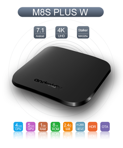 The newest android tv box M8S plus w Amlogic S905W up to 2.0 GHz,Quad core ARM Cor tex-A53 smart tv box