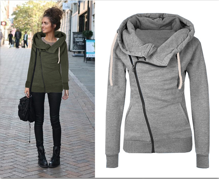 ZH0562L Fashionable autumn women hoodie jacket 2017 new design women coat with hood