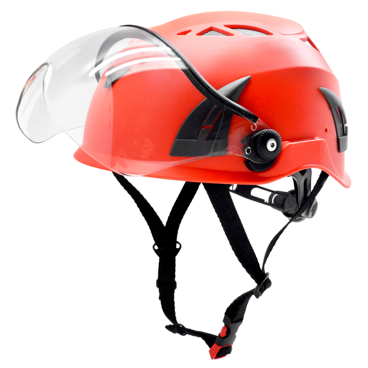 water rescue climbing safety helmet with clear visor 20