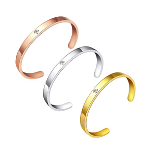 Lady Accessories Womens Gold Bracelet Bangle Cuff Stainless Steel Bangles