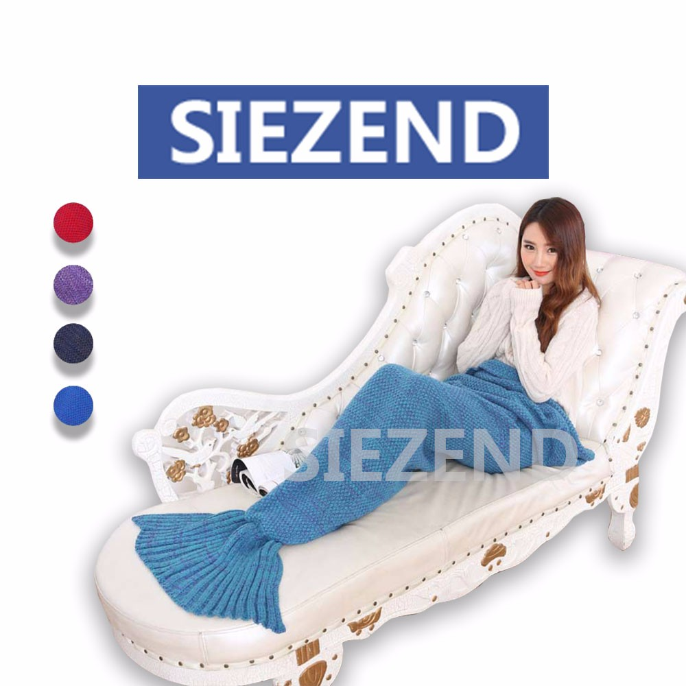 Hot Selling Colorful Ladies Hand Crochet Mermaid Tail Blanket, Factory Price Children/Adult Knit Mermaid Tail Blanket@