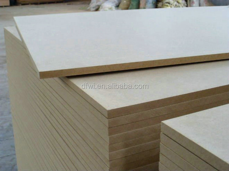 18mm White one side high glossy Acrylic one side melamine MDF