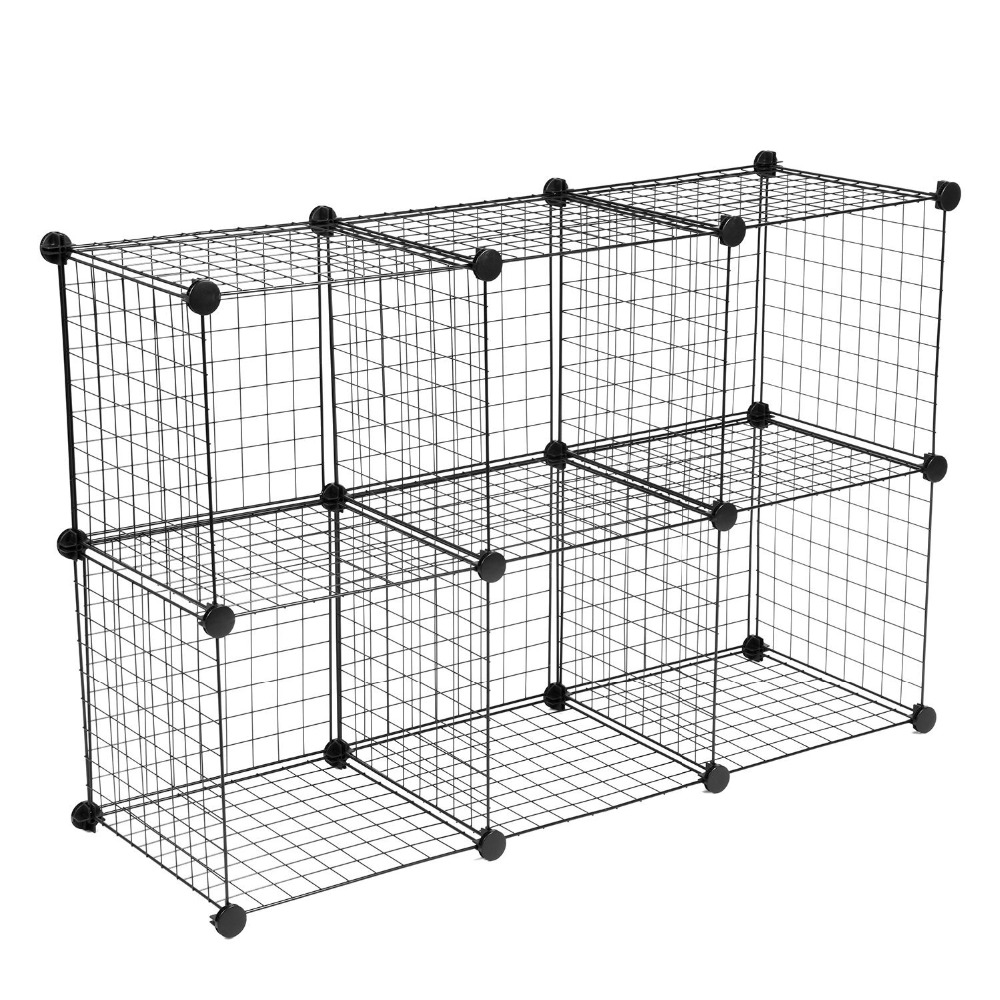 Grid Wire Modular Shelving And Storage Cubes, Grid Wire Modular ...