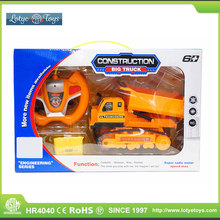 Hot sale electric toy big construction vehicle 6ch 6x6 rc truck with light