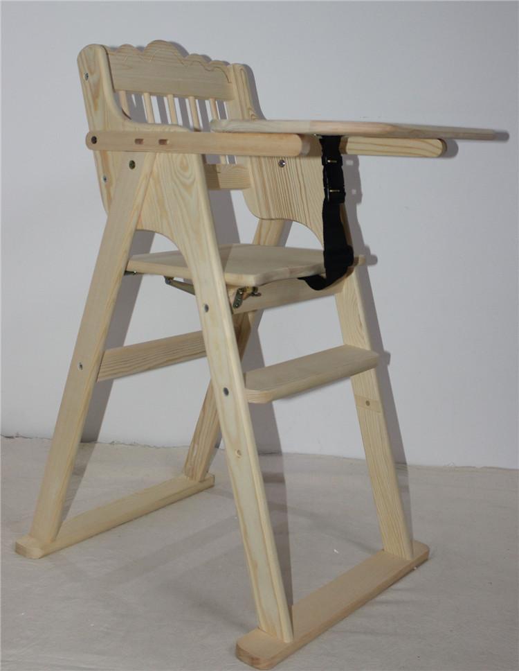 оптовая продажа складные деревянные детские кормление стульчики для
