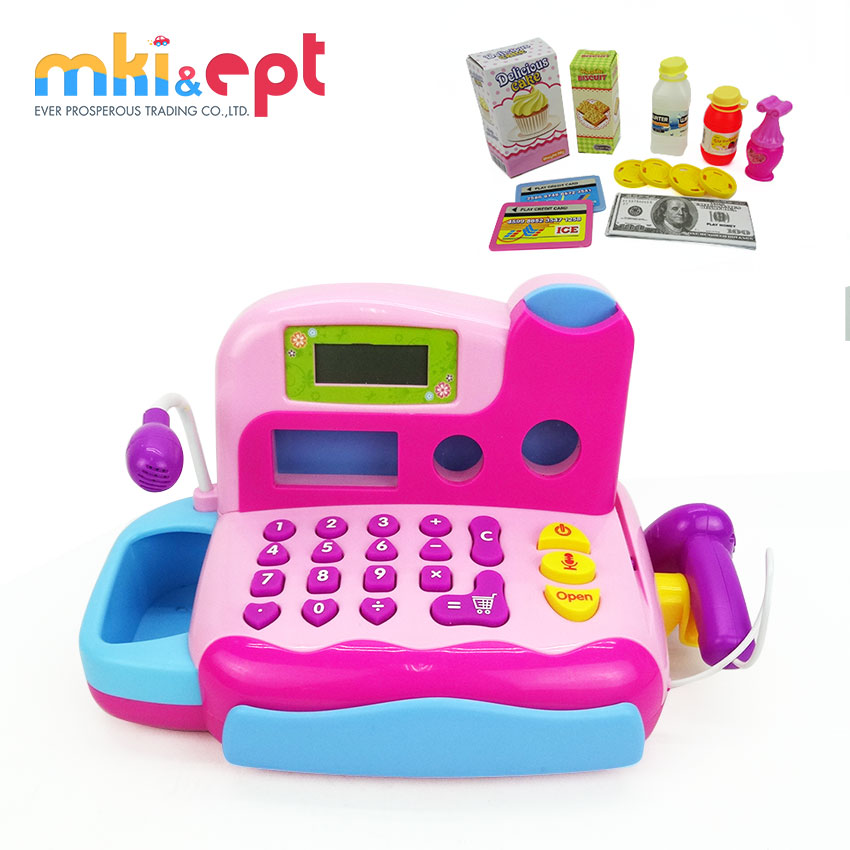 Top quality kids play electronic cash register toy for sale