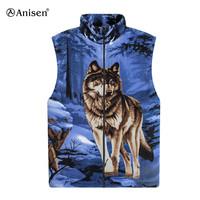 alibaba wholesale polar fleece animal pattern men custom vest