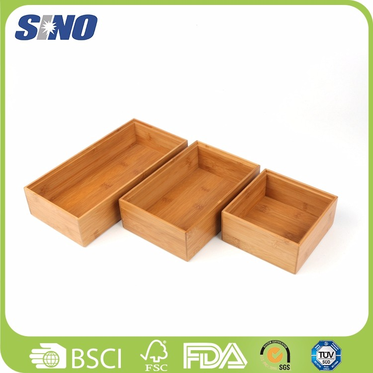 Wholesale Classics Bamboo Drawer Organizer serving Boxes