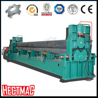hect W11S 30mm thick hydraulic 3 roll metal sheet conical shape 5300mm rolling machine plate bending machine