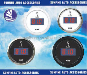 "HOTSYSTEM 2"" 52mm Blue Digital LED Fahrenheit Water Temp Temperature Gauge Black"