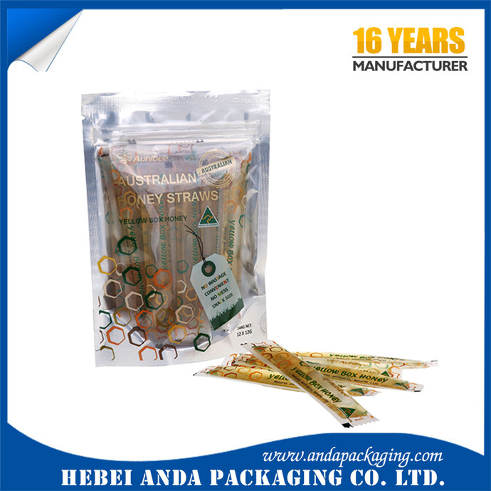 Honey packaging bag/ packing material for honey / Individual Package Bag for Honey Packing