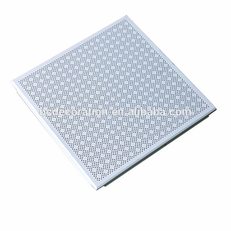 2018 new arrival sound absorption aluminum ceiling tiles for conference hall