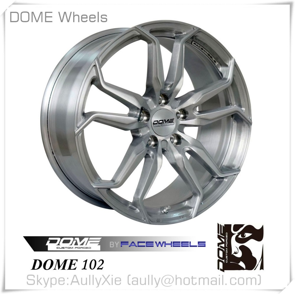 Wholesale Factory Price Semi Forged Car Wheel Rim, OEM Design One Piece Forged Aluminum Alloy Wheel, DOME 102