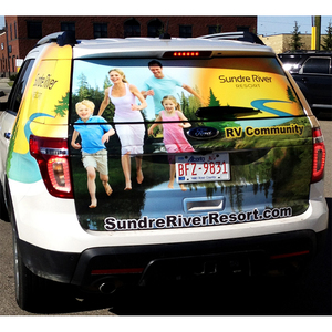 Custom car window decals university family car stickers