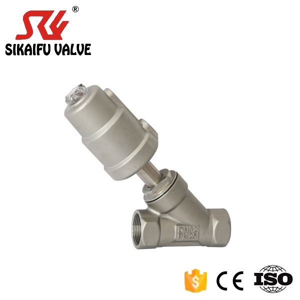 DN25 CF8 Stainless Steel Thread Angle Seat Valve <strong>Hardware</strong> for High Temperature Dyeing Machine