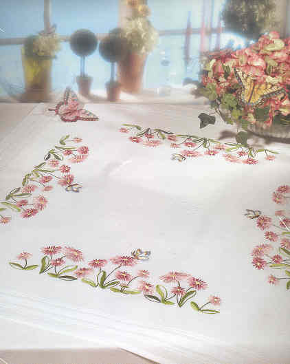 Hand Embroidery Table Cloth Product On Alibaba